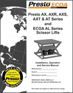 Pneumatic Scissor Lift Tables Manual