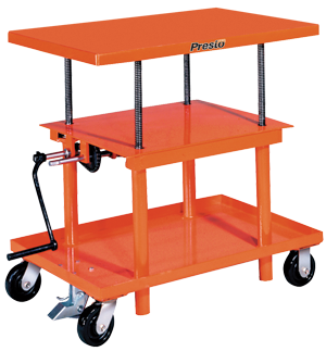 Mechanical/Hand Crank Post Lift Tables