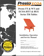 Presto TT & WT Tilt Tables Manual