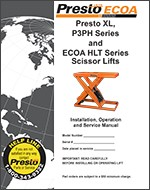 XL Series and ECOA HLT Series Scissor Lifts