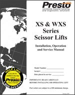 XS-WXS Series Electric Scissor Lifts Manual