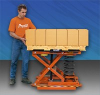 MANUAL PALLETIZER AUTOMATICALLY RAISES  AND LOWERS LOADS