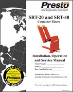 SRT-20 & SRT-40 Container Tilters Manual